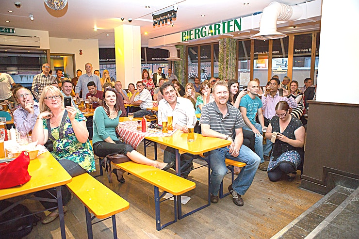 Large funtion rooms BS1  The newest addition to the Bavarian Beerhouse Family is the Bristol venue, opened in September 2013. Near to the waterfront and Queen Square, this beautiful venue has all the charm of it's London siblings. Tuesday – Thursday it is a wonderful Bavarian restaurant. Friday – Saturday, kick off your work shoes Bristol! Grab your Lederhosen and come find out how the German's party!