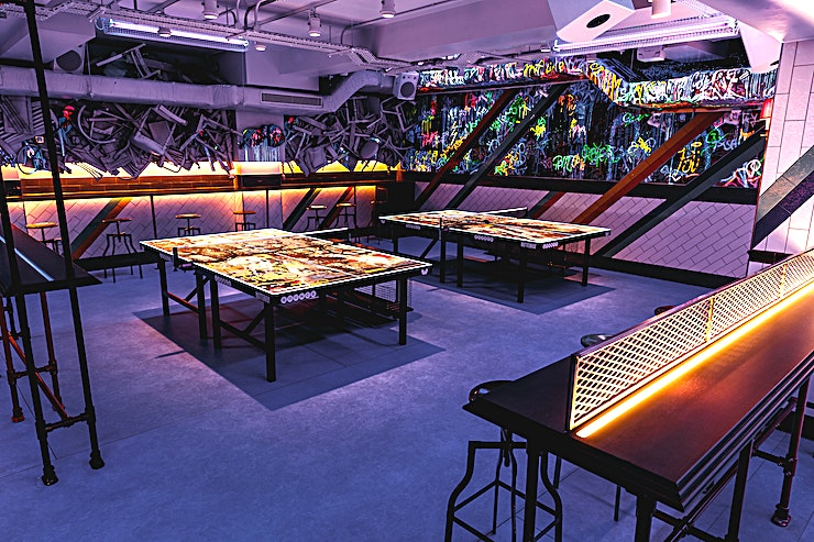 Exclusive Areas **Bounce Old Street has some unique, exclusive areas for hire for private parties and team celebrations.**  Each Bounce has a sequestered area which is available to reserve for an extended period for