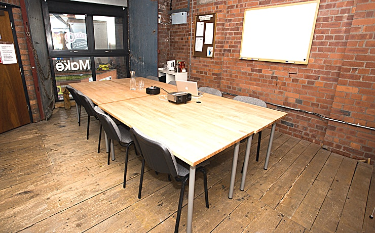 Incubator The Incubator, in Make Liverpool's Baltic Studios, is an excellent place to meet and discuss anything and everything! It's a versatile space which can be furnished, or unfurnished depending on your requirements.  The room is perfect for meetings and we can cater for your booking if you require.   Whether it's brainstorming a new idea, or you just need a space for some team building exercises, The Incubator is the place to let new ideas flourish!