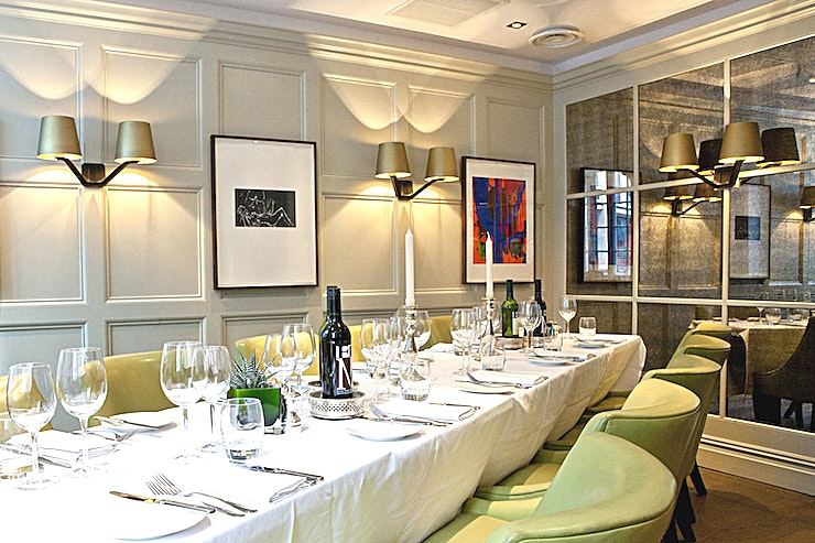 Whole Venue **Book The Chiswell Street Dining Rooms for a variety of different spaces available for 10-300 guests**  They can host a range of events from business breakfasts and private dining, through to wedding receptions and private parties.
