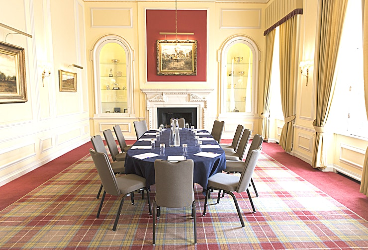 The Stuart Room The Stuart Room is situated on the first floor, overlooking the terrace.  An ideal room for day time meetings as well as evening dinners. The large windows and ceiling provides a feeling of space and