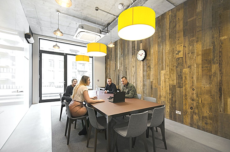 Jim  **Workspace have created a top West London meeting room that's perfect for your next productive meeting.**   Jim is the counter-part to Grand Union's other meeting room, Rosie, and can comfortably s