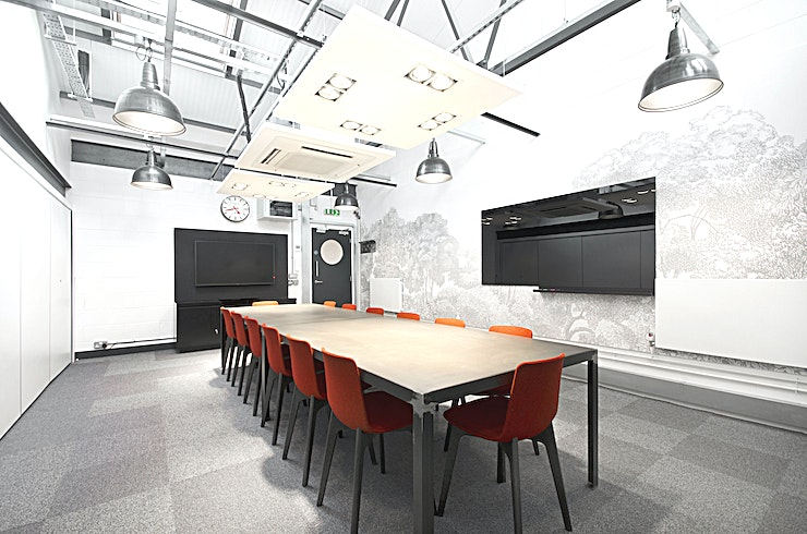 Electric **The Electric room is one of the best West London meeting rooms courtesy of Workspace.**   This large, minimalist meeting space can seat up to 14 people, and comes complete with an LED screen, high