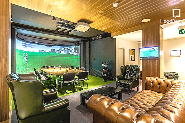 The Bunker **Hire The Bunker at Urban Golf Smithfield for one the most unique party venues London has to offer.**