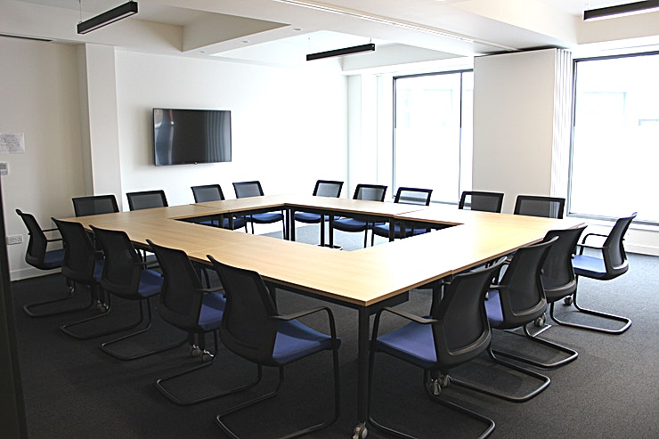 Main Boardroom **Hire the Main Boardroom at The Glass and Glazing Federation for one of the best options for meeting room hire London has to offer!**