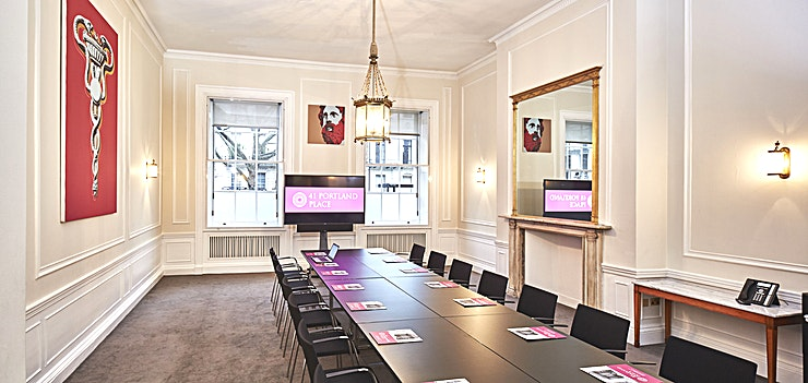 Laurie Landeau Room **For a London meeting room hire ideal for all manner of small company events, hire the Laurie Landeau Room at 41 Portland Place**