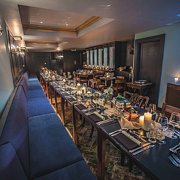 Restaurant **Hire the Restaurant at the LIBRARY for one of the best options for private dining London has to offer.**   On the lower ground floor resides Saint Luke's Kitchen, our restaurant. Available to book