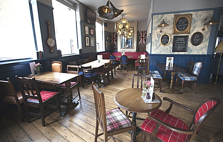 The Albert Room **Hire the Albert Room at the Coopers Arm for one of the best options for pubs with private dining rooms in London.**  Located just off the iconic Kings road, the Coopers Arms is a pub at the heart