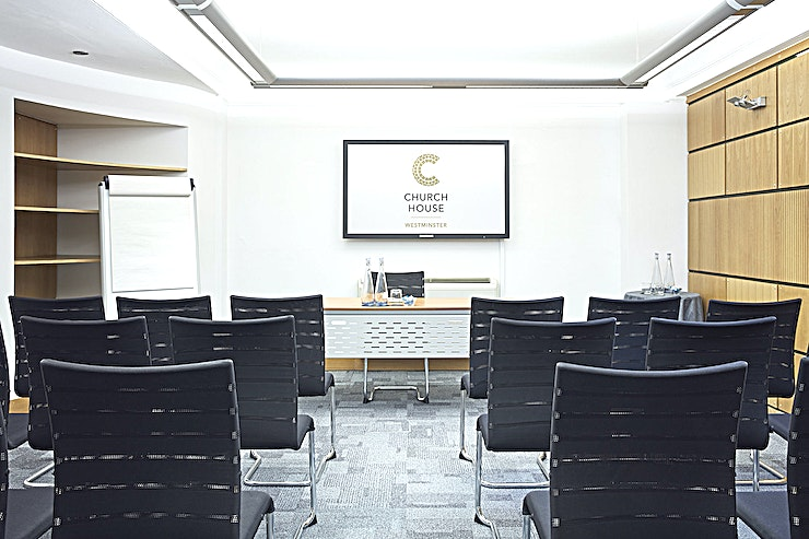 Temple Room **Hire the Temple Room at the Church House Westminster for one of the best options for meeting room hire in London.**   Located on the lower ground floor, the Temple Room is 34 square metres and is