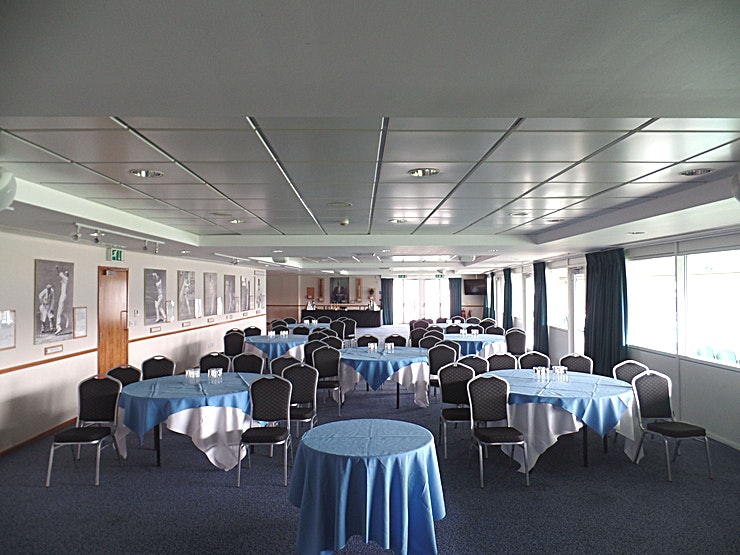 John Major Suite **Hire the John Major Suite at the Kia Oval Cricket Stadium for your next corporate event.**   The John Major suite is located on the second floor of the OCS Stand, and has a private terrace and outdoor seating overlooking the famous Oval wicket. The room can accommodate 160 guests in a dining capacity, 112 cabaret, or 150 theatre style. There's complimentary Wi-Fi for all delegates as well as natural daylight and air conditioning throughout.