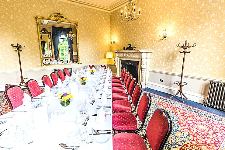 The Rutland Room  **Hire the Rutland Room at The Royal Over-Seas League for one of the best meeting rooms London has to offer!**   The elegant, classically decorated Rutland Room features an original carved marble fi