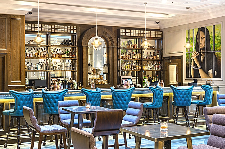 Jailhouse Bar **A top London party venue is the Jailhouse Bar at The Courthouse Hotel in Shoreditch.**   The Jailhouse Bar is set in the original Courtroom of this Shoreditch Hotel and is an all-day Shoreditch ho