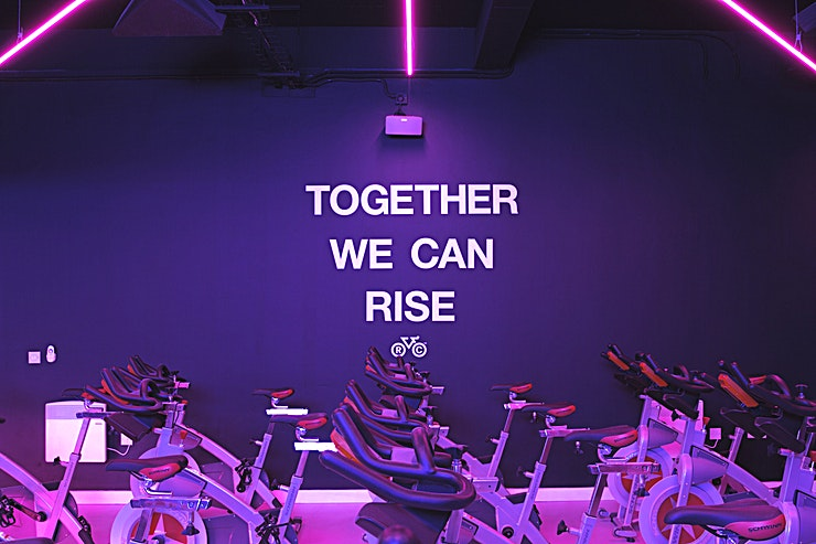 Rise Cycle Studio **Want a team away day that'll get the team spirit back on track? Or looking for a studio to hire an organised exercise class? Welcome to the Rise Cycle Studio in Liverpool!**   Rise Cycling is Liverpool's very first boutique indoor cycle studio. At Rise Cycle Studio Liverpool, you can decide how far to push yourself, with fully trained instructors on hand to help too!  With the lights low and the world-class sound system kicking out high energy music you'll be pumped and motivated to take part in an immersive experience. Hiring the Rise Cycling Studio is a fantastic option for a team building activity, bonding exercise, celebrating or kicking off a staff party with a difference!