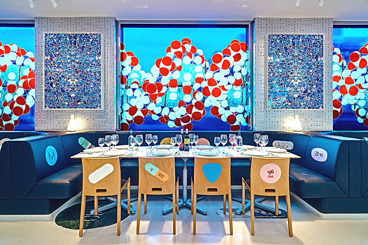 Restaurant **Another amazing option for restaurant hire! Welcome to the Pharmacy 2 restaurant in London - perfect for your next event.**   Located within the award-winning Newport Street Gallery, Pharmacy 2 is Damien Hirst's restaurant, launched in collaboration with Mark Hix. Pharmacy 2 serves classic British and European food. The menu reflects Hix and Hirst's shared passion for quality food made from fresh ingredients. While Newport Street Gallery is the realisation of Hirst's long-term ambition to share his art collection with the public, Pharmacy 2 gives visitors the opportunity to view some of Hirst's own art. It features work from some of the artist's most iconic series including the Medicine Cabinets and butterfly Kaleidoscope paintings.  For special occasions, receptions, birthdays and private parties, Pharmacy2 provides an iconic setting. The restaurant offers outstanding seasonal cooking and unrivalled service that can be tailored to your needs.  Events can also include a private view or tour of Damien Hirst's much-celebrated Newport Street Gallery. The restaurant can accommodate x seated and x for a standing reception.