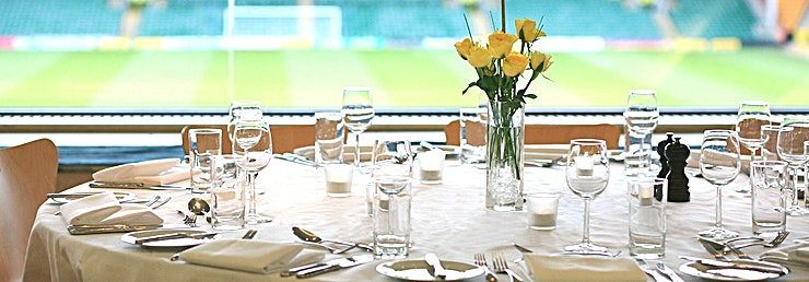 The Top of the Terrace Norwich City Football Club is the perfect location for meetings and conferences of all sizes from 15 to 350 delegates. We have a variety of rooms many of which have stunning pitch views. Our all-inclu