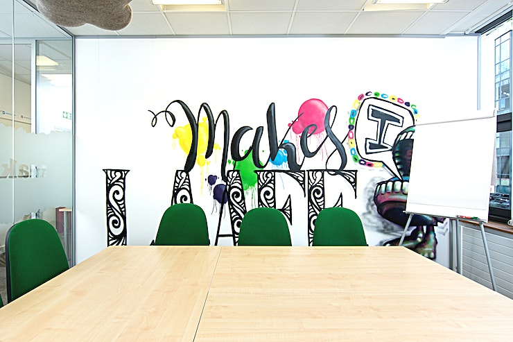 Makes I Laaff **Makes I Laaff is one of several rooms contained within The Waterfront Offices. Set beside the river on central Bristol's Welsh Back, this meeting room's central location is second to none.**