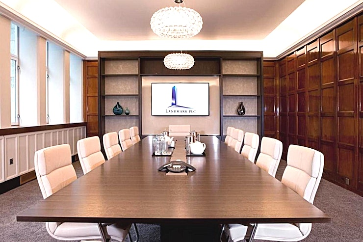 Boardroom **Need a boardroom to hire in London? Welcome Holland House brought to you by the Landmark team!**   Considered to be one of the City's finest locations, this architecturally important Grade II listed building has been professionally restored to provide stunning interiors and common areas as well as a Grade A modern office.  An extensive range of corporate services are available to occupants, including onsite professional IT support and twin circuit resilience across all Landmark centres.