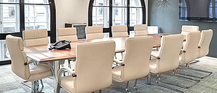 Boardroom **Hire the Boardroom meeting room in Lombard Street for your next productive day out of the office. Brought to you by Landmark - a company who create professional workspaces for people who want to wor