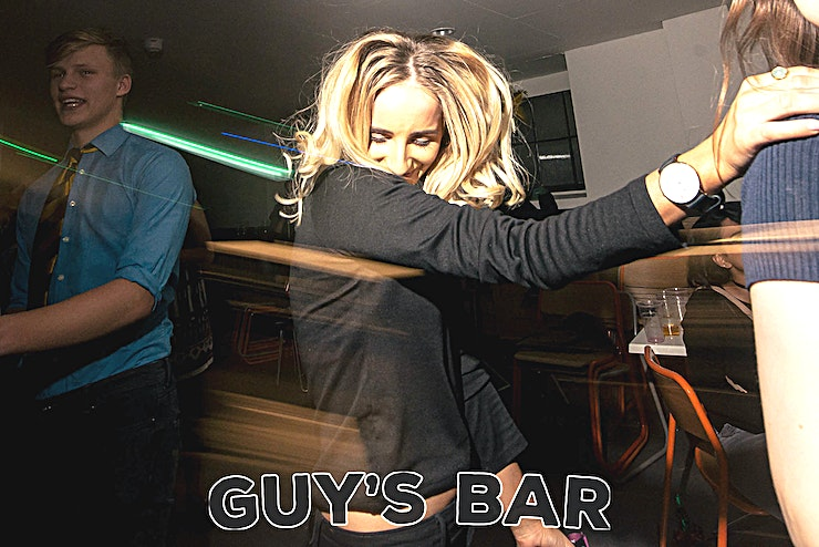 Guy's Bar **Welcome to The Guy's Bar, a London venue that'll really impress!**   Our newly refurbished sub-terranean bar directly next to London Bridge Station, is now ready to host you in whatever magnificent fashion you desire. From birthday parties with an intimate feel to late night raves going on untill the wee hours, our space and staff are able to help you put on whatever night it is you desire.   Also our food and beverage selection won't be beaten on price, but with our in house team of chefs quality is always assured.
