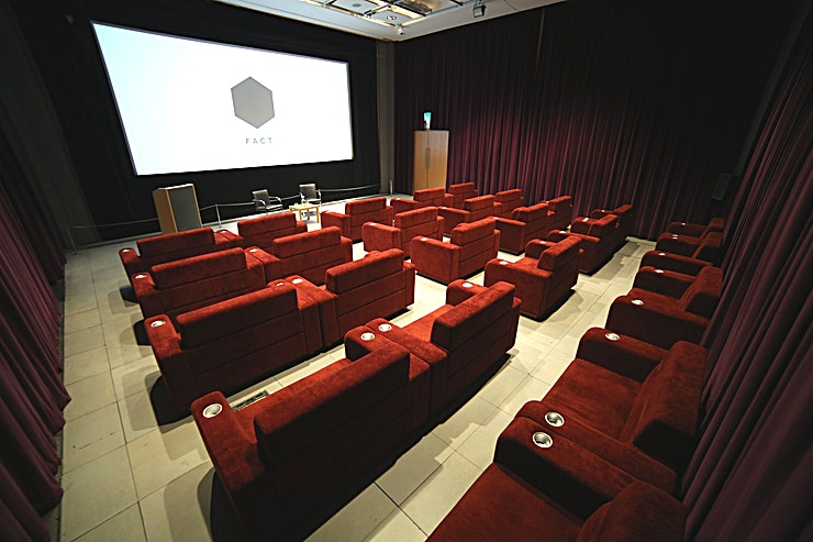The Box **If you're looking for a quirky screening room for your next corporate event, you've found the perfect spot at The Box at FACT**