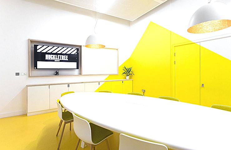Sunnyvale Meeting Room **Looking for a creative meeting space to hire in London? Huckletree Shoreditch is a creative and inspiring venue, in one of the most creative and inspiring areas of the city of London!**   Nestled in the heart of Shoreditch, East London, Huckletree provides space for entrepreneurs and small businesses in a vibrant co-working community. The atmosphere here is full of energy and ideas, and perfect if you want to inject a little of this feeling into your next team meeting or event. Huckletree Shoreditch is perfectly situated between Old Street and Moorgate, just an easy walk from both stations. It is also an ideal meeting point for teams from the City offices nearby, or those in surrounding start-ups and tech companies close to Old Street roundabout.   The Sunnyvale Meeting Room is perfect if you want to rent a meeting room in London that has originality and energy. This meeting room is an oasis for people who work differently. Sunnyvale Meeting Room is a meeting space in London that is designed to help facilitate creative thinking and inspire.   The Space is an ideal size for a small get-together and can host up to ten people. It is a great Space for meetings, idea generation, strategy sessions, training days or away days. There is an internal urban garden space with a small kitchen area at the very entrance of the meeting room,  making it ideal for longer half-day or full-day meetings.