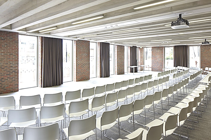 Connect **Connect at the ORTUS Conferencing and Events Venue is one of the best options for venue hire London has to offer, perfect for your next corporate event!**   Named after one of the five recognised ways towards achieving mental wellbeing, Connect is our largest single event room. This space is perfect for connecting with larger audiences and boasts fantastic audio and visual equipment including Apple TV, blu-ray player, dual high definition Canon projectors and cordless microphones. With our lecture capture system we are able to stream live audio and video of presentations taking place in Connect into our other event spaces and even online.