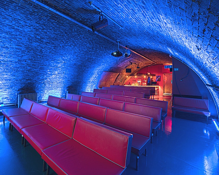 Screening Room, Evening Hire **Finding a screening room or conference venue to hire in London can be daunting, look no further than The Screening Room at Whirled Cinema for your next event.**   Small, cosy and intimate, Whirled Cinema is a world away from your everyday multiplex experience. With an affordable membership, and free of advertising and trailers, this is the place to come to indulge your love of good film, kick back with a few drinks and make new friends in a chilled and welcoming environment.   A little off the beaten track, we're hidden away in railway arches in Loughborough Junction (just a stone's throw from Brixton and Herne Hill), making us one of South London's best-kept secrets.   Since we opened our doors in 2010, as an independent members cinema we have set out to screen a diverse programme of the best of current world and art house cinema and now we're offering one of the top private screening rooms London has to offer.   The Screening Room at Whirled Cinema is available for exclusive hire and perfect for conferences and screenings in South London. This Space can hold up to 60 guests for a seated reception and is avaliable from just £220 per day making this an affordable screening room in London.     **Please note this space fee is a venue hire**