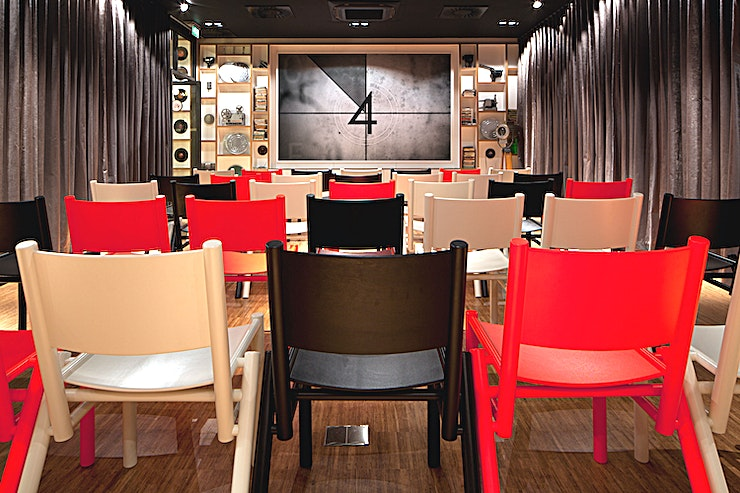 The Screening Room **The Screening Room at the citizenM Hotel is one of the best venues to hire in Glasgow, equipped with 50 seats arranged theatre-style, meaning you're ready for anything!**