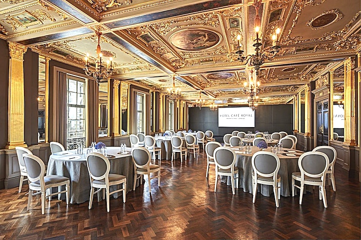 Pompadour Ballroom **Need a ballroom to hire in London for your next showstopping event? Welcome to the Hotel Cafe Royal, Pompadour Ballroom.** 