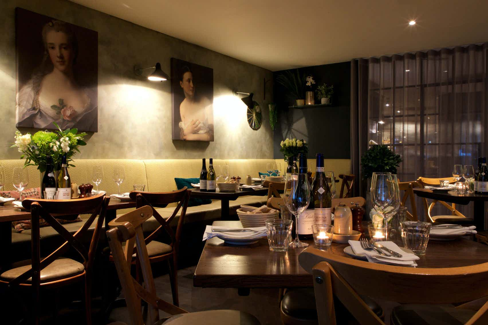 Deluxe private room, Brasserie Blanc, Southbank