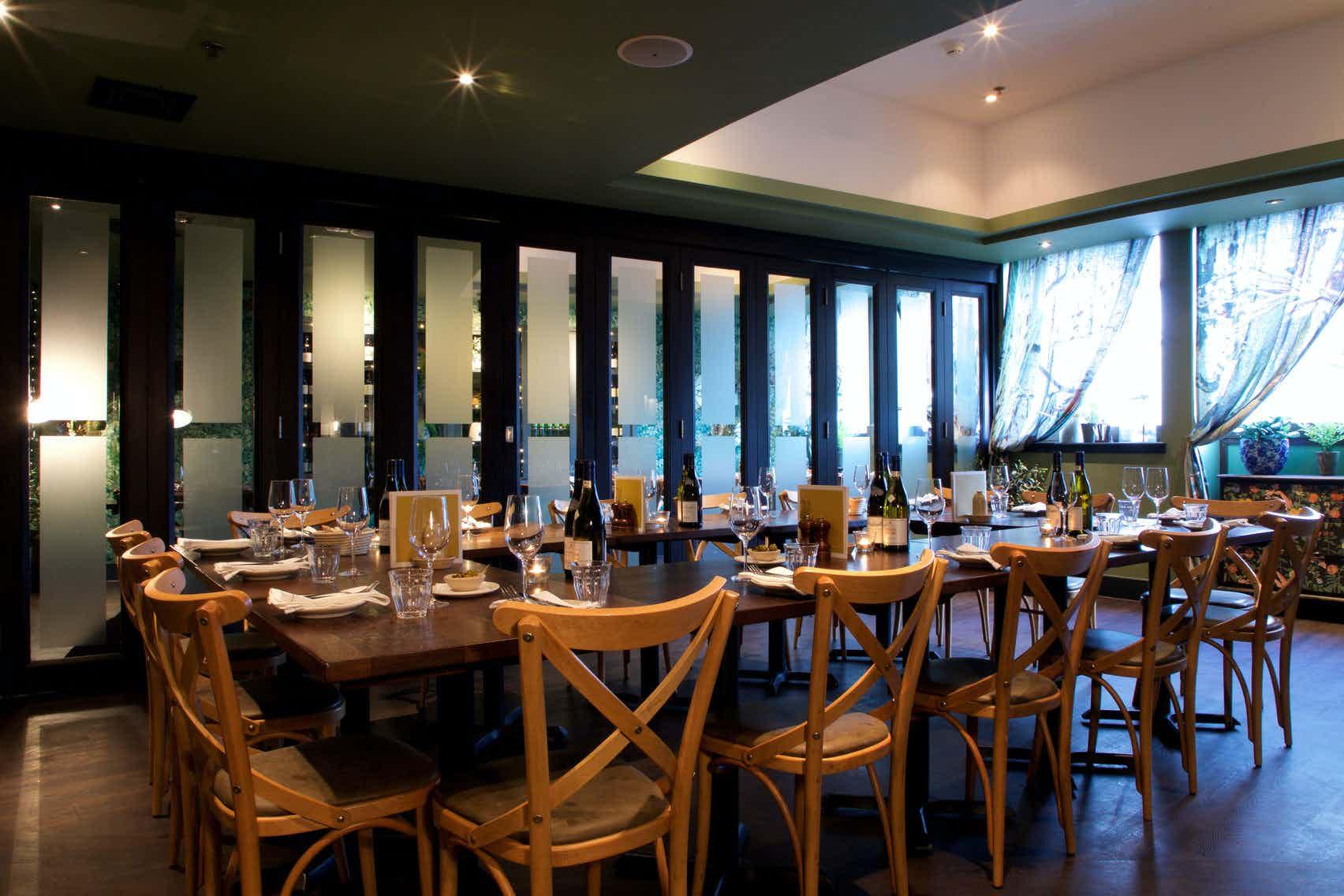 Medium private room, Brasserie Blanc, Southbank