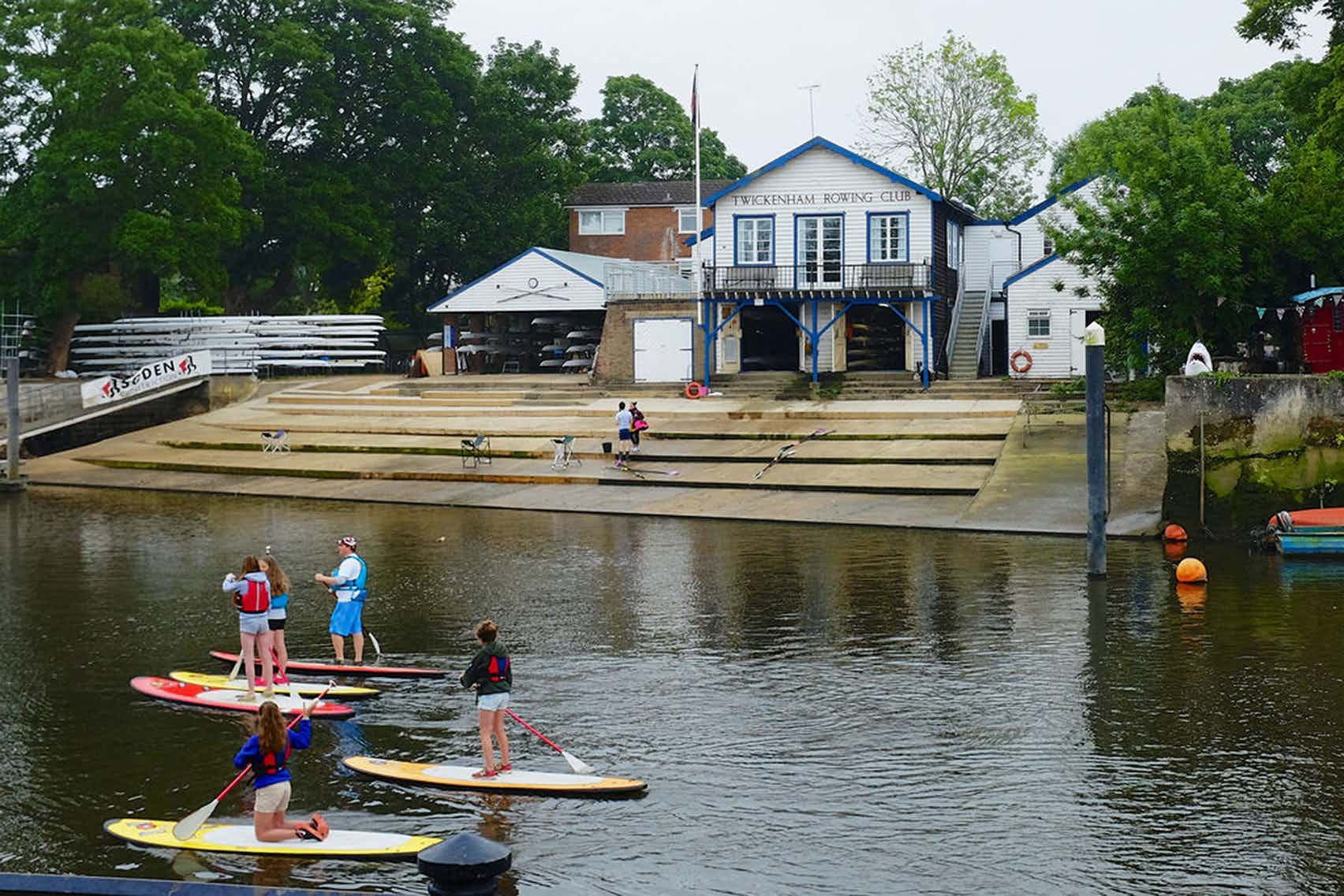 Clubhouse bar and kitchen, Twickenham Rowing Club