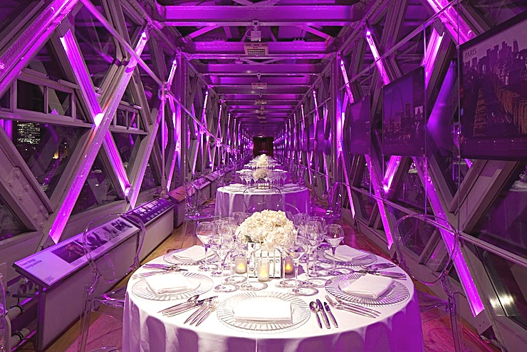 Walkway 1 & 2 **Hire Walkways 1 & 2 combined at Tower Bridge for one of the most iconic party venues has to offer.**   2 metres above the River Thames, the North and South Towers of the award-winning high-level W