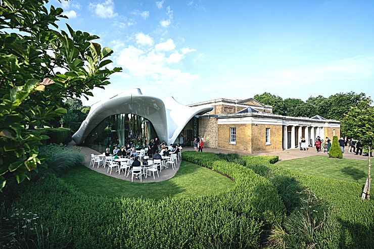 Serpentine Sackler Gallery **Hire the Serpentine Sackler Gallery for your next event, one of the two contemporary art galleries in Kensington Gardens.**  Situated within the Royal Park of Kensington Gardens, the Serpentine Sackler Gallery with The Magazine restaurant combines the grace of historic Grade II listed building with the coolness of a contemporary art Space.   First opened to the public in September 2013, the Serpentine Sackler Gallery gives life to this former 1805 gunpowder store, formally known as The Magazine.  Available for corporate and private hire, the Serpentine Sackler Gallery and the Magazine restaurant are unique venues in which to hold beautiful events.