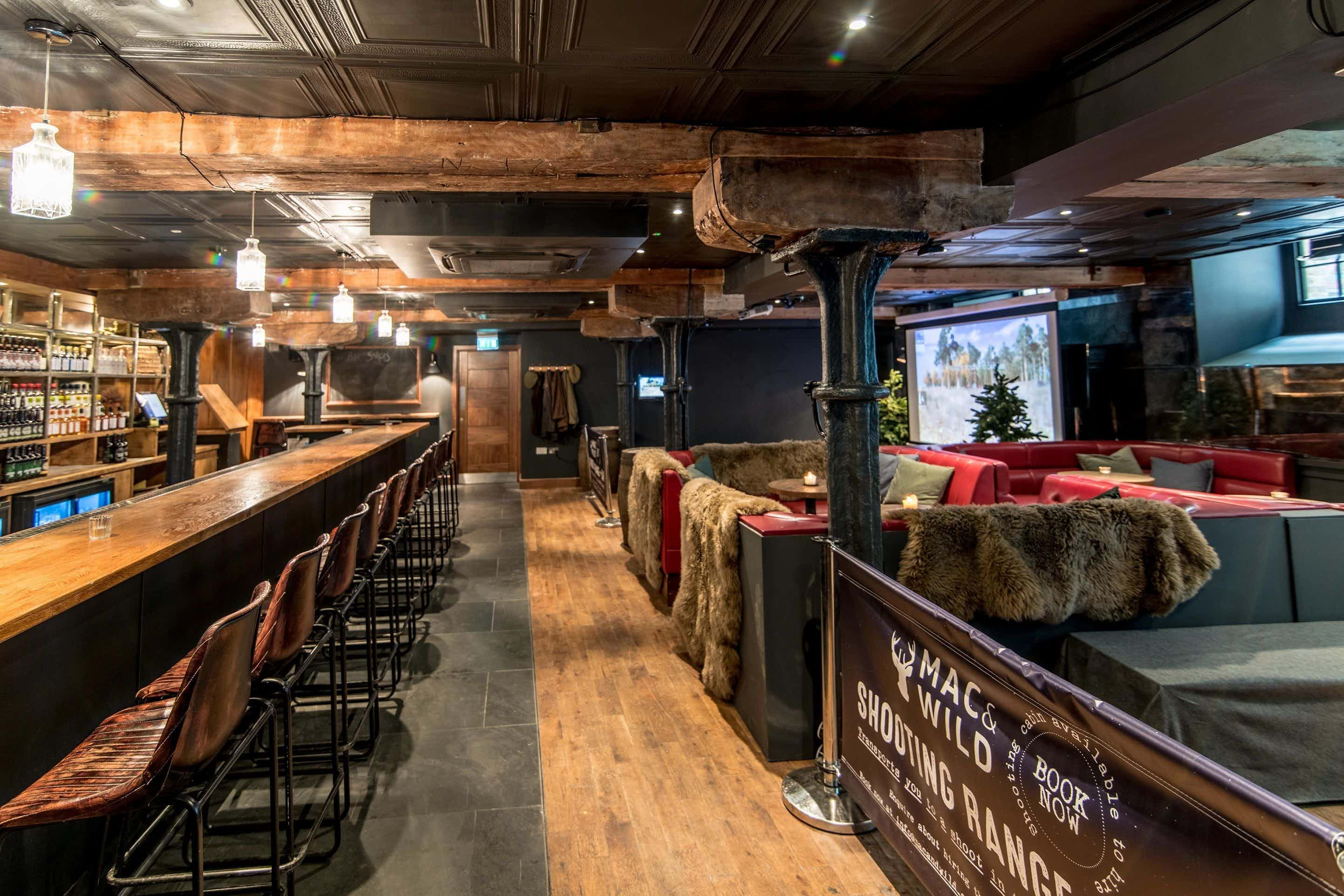 Shooting Range and Whiskey Bar , Mac and Wild City