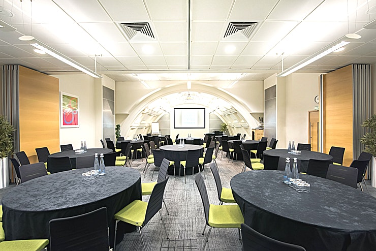 Bevan Suite **Hire the Bevan Suite at the BMA House for one of the best options for venue hire London has to offer for your next corporate event!**  The Bevan Suite comprises of the Black, Lister and Fleming rooms, which can be hired as a suite or as independent rooms.  Located on the third floor these rooms are ideal for conferences with a high presentation content.  The Bevan Suite retains the original art deco barrel-vaulted ceiling of the Great Hall, of which it was part until a ceiling was inserted in 1985 to create an additional floor. The Suite offers a variety of layouts including theatre style, cabaret and boardroom. All rooms within the suite are complemented by the latest audio-visual technology.