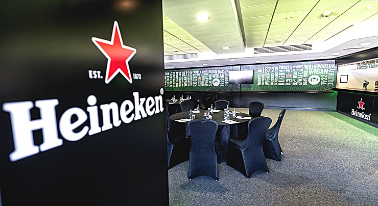 Heineken Lounge **This is the Heineken Lounge at the iconic DW Stadium in Wigan.** 