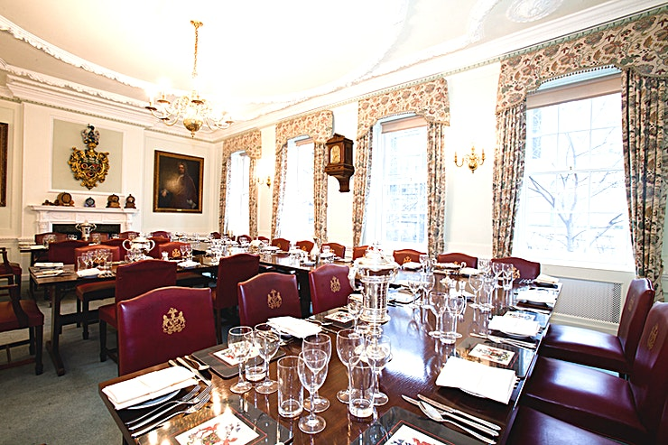 Traditional Christmas **Hire Traditional Christmas at Coopers' Hall, a beautifully festive themed venue for your Christmas event.**  Traditional Christmas theming turns this intimate townhouse into an elegant yuletide se