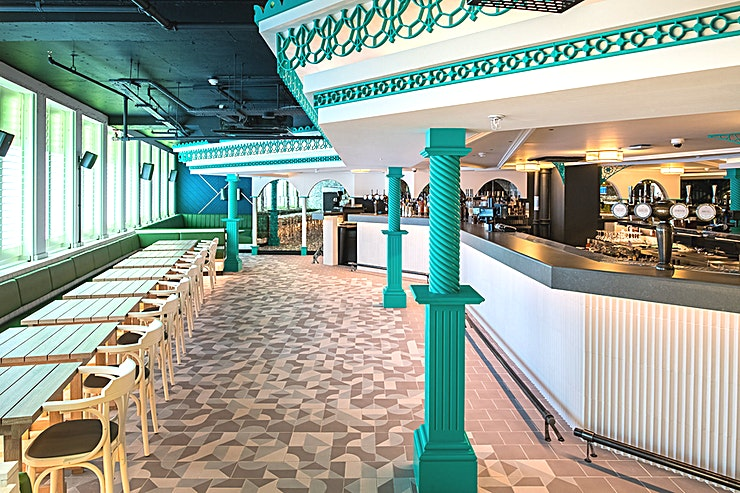Behind the Bandstand **Host your next corporate event at Behind the Bandstand at Swingers West End - the best options for party venue hire in West London**