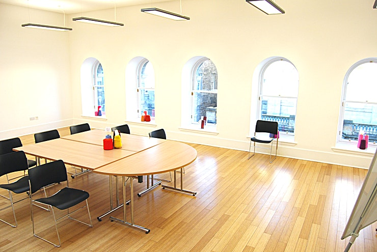 Meeting Room **Dovecot Studios is the perfect venue hire Edinburgh for meetings, conferences or private parties.**