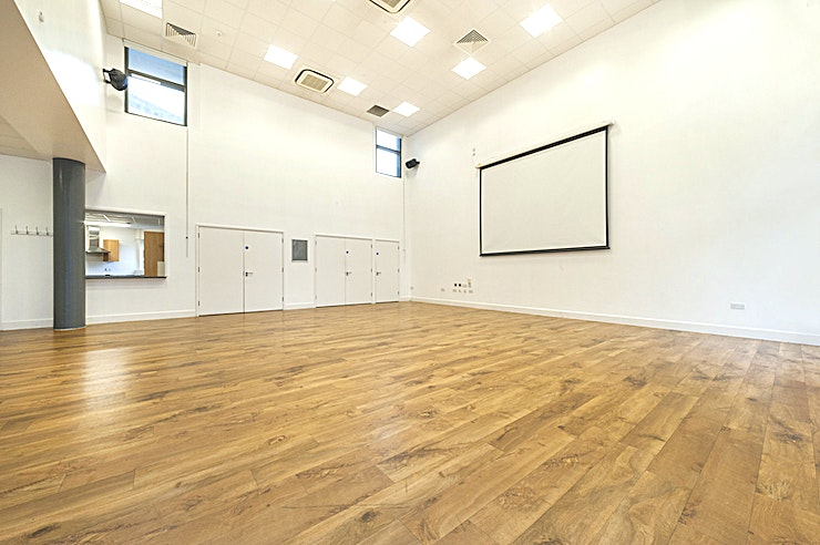 Main Room **Hire The Main Room at The Arc Centre for a unique venue hire in London**  Book The Main Room at The Arc Centre. The room offers a blank canvass for users with white walls and wooden floors. There