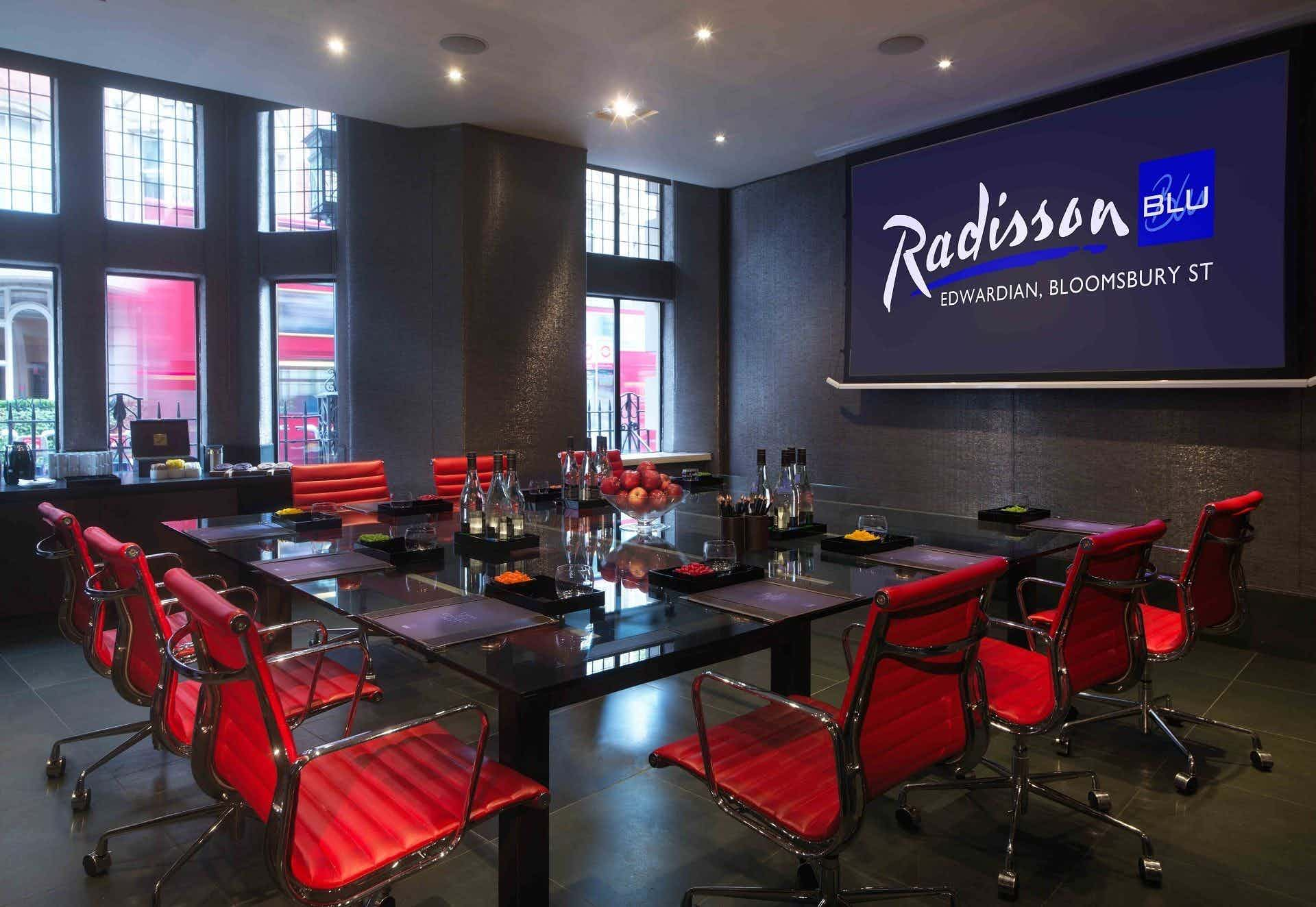 Private Room 1, Radisson Blu Edwardian, Bloomsbury Street