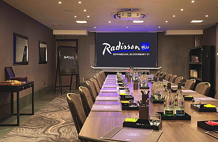 Private Room 3 **Hire Private Room 3 at Radisson Blu Edwardian, Bloomsbury Street for your upcoming corporate meeting in London.**   The Private Room 3 can host a stylish boardroom for up to 15 delegates. Intellig