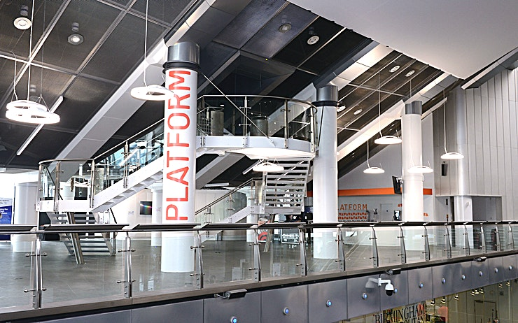 Platform **Hire the Platform, at Millennium Point for your next corporate event.**   PLATFORM is a 200 sq/m wide open space on level 1 of our iconic venue. It boasts a built-in bar and presentation and AV facilities making it ideal for banqueting, conferences and breakout space.