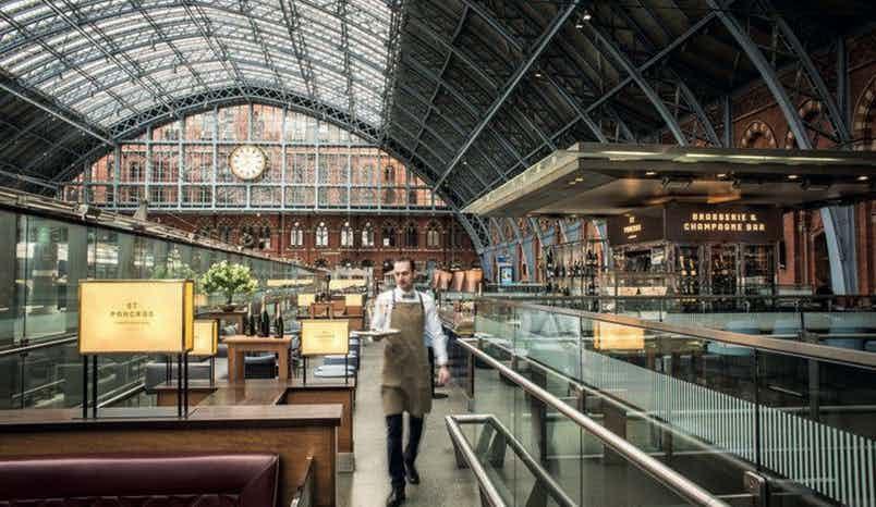 Champagne Bar , St Pancras Brasserie and Champagne Bar by Searcys