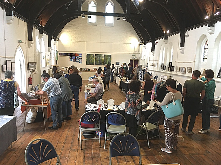 Main Hall **The jewel of the St Mark's Spaces, the recently refurbished Main Hall features a wooden floor, a beautiful, floodlit arched wooden ceiling, a stage and a kitchenette with serving hatch.**  This hi