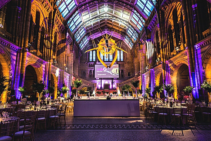 Hintze Hall **For a Space that bursts with iconic, historic splendour, the Natural History Museum is the best choice in London**  With breath-taking architecture and memorable permanent exhibitions, the Natural
