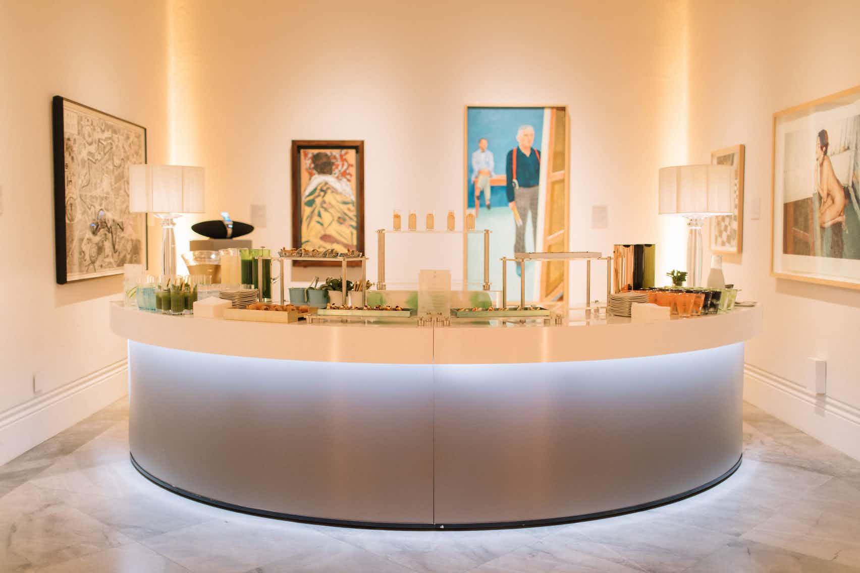 Breakfast in a Gallery Space, National Portrait Gallery