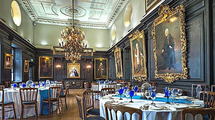 Whole Venue Hire **Apothecaries' Hall is a fascinating historic venue in the heart of the City offering bespoke event management, on-site catering and total commitment to the success of your event.**  Apothecaries' Hall comprises four historic spaces with a most magical atmosphere and filled with fascinating artefacts, perfect for dinners, receptions, conferences and other special occasions. One of the oldest Livery Halls in the City of London, nestled in the back streets behind St Paul's Cathedral, and with the first-floor rooms remaining as they were in 1670, the Grade I listed Hall is a portal into another time.