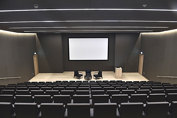 Bakala Auditorium **Complete with an iconic museum backdrop, the Bakala Auditorium offers an astounding choice of hire in London**